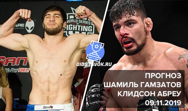 Шамиль Гамзатов - Клидсон Абреу - прогноз на бой 09.11.2019 UFC FN 163