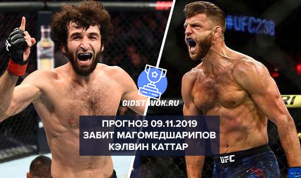 Прогноз Забит Магомедшарипов - Кэлвин Каттар 09.11.2019